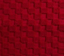 Luxurious linenHall, 850gsm 100% Cotton Reversible Bath Mat in Cherry